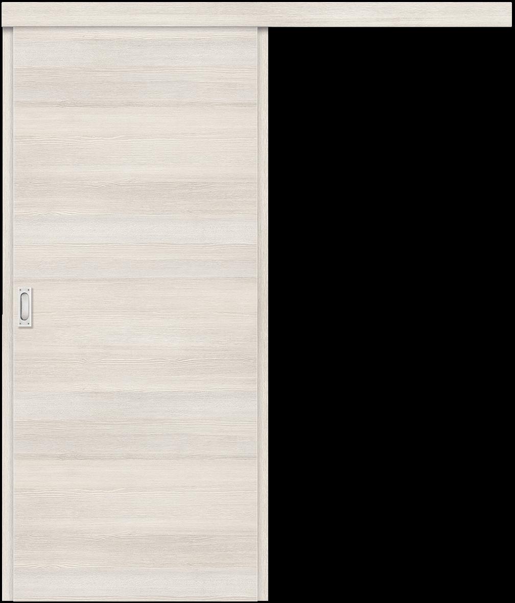 Schiebetür vor der Wand laufend Basisversion in der Oberfläche CPL Lärche cashmere Q